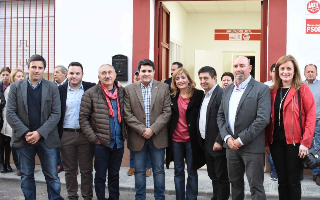 Reabierta la Casa del Pueblo de Marmolejo con la presencia de los líderes sindicales de UGT