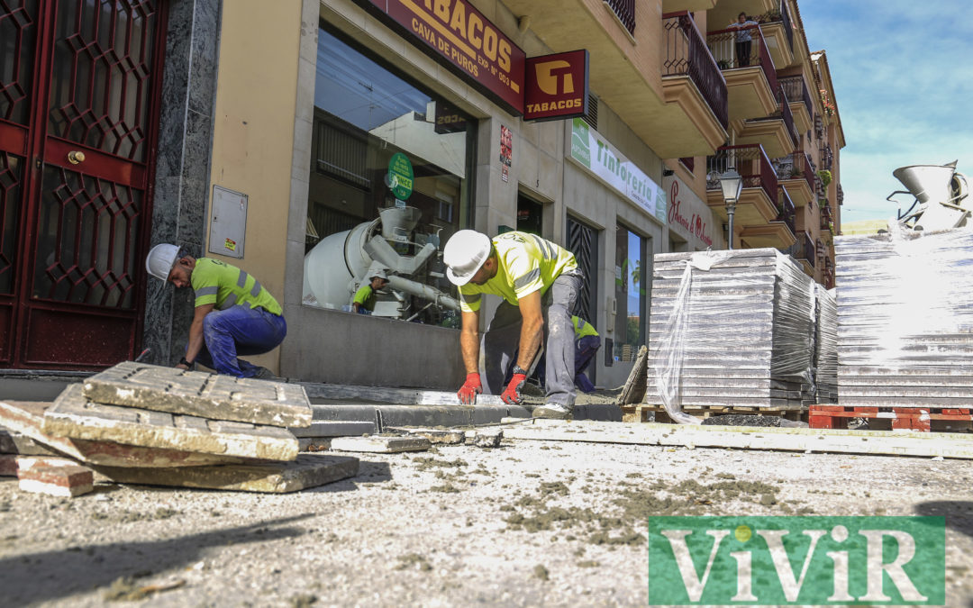 Obras de mejora en la calle Rodríguez de la Fuente