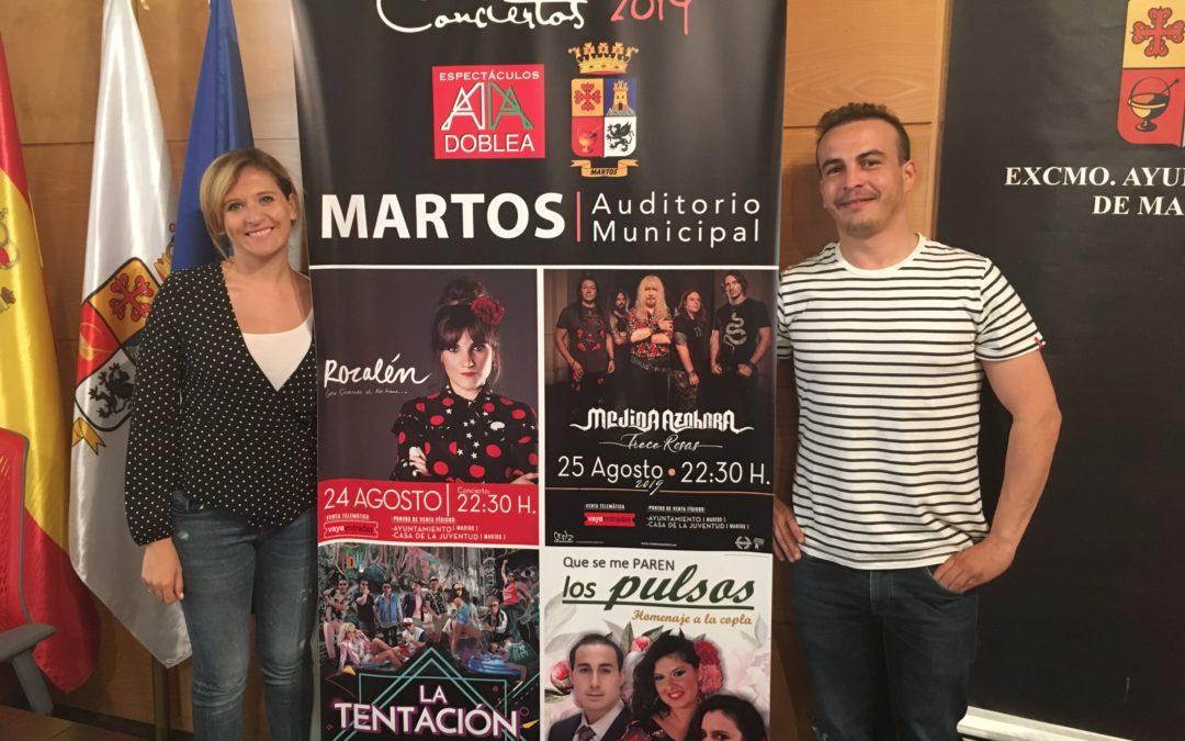 Conciertos de primer nivel para la feria de San Bartolomé 2019