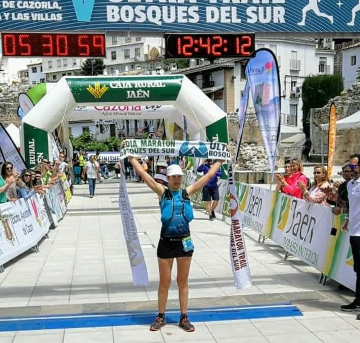 Noelia Camacho, vencedora en el Ultra Trail Bosques del Sur