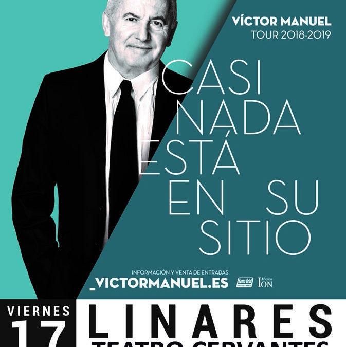 El concierto de Víctor Manuel se celebrará en el Teatro Cervantes