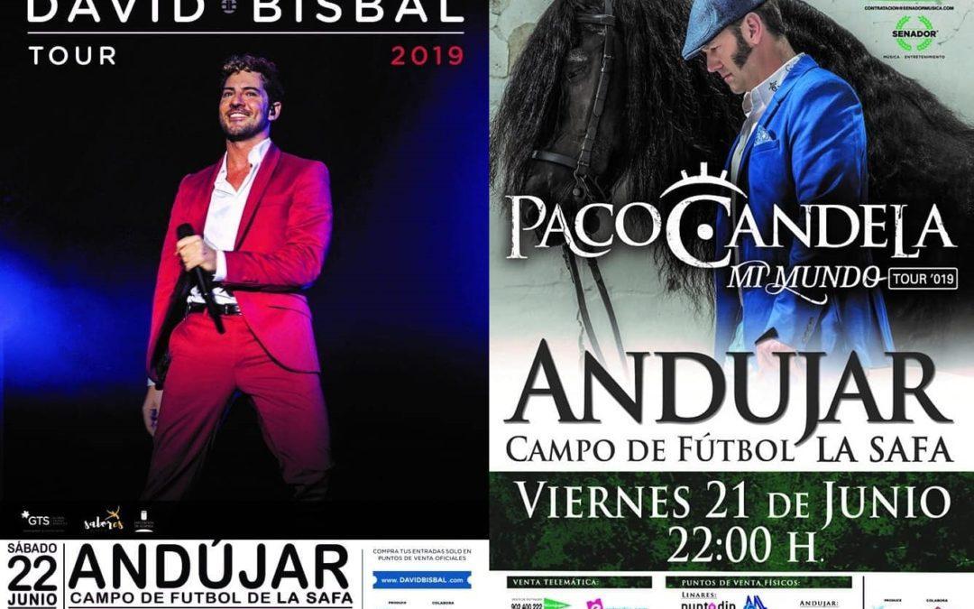David Bisbal y Paco Candela, actuarán en Andújar