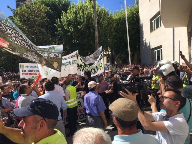 Miles de agricultores jiennenses salen a la calle para protestar por los bajos precios en origen del aceite