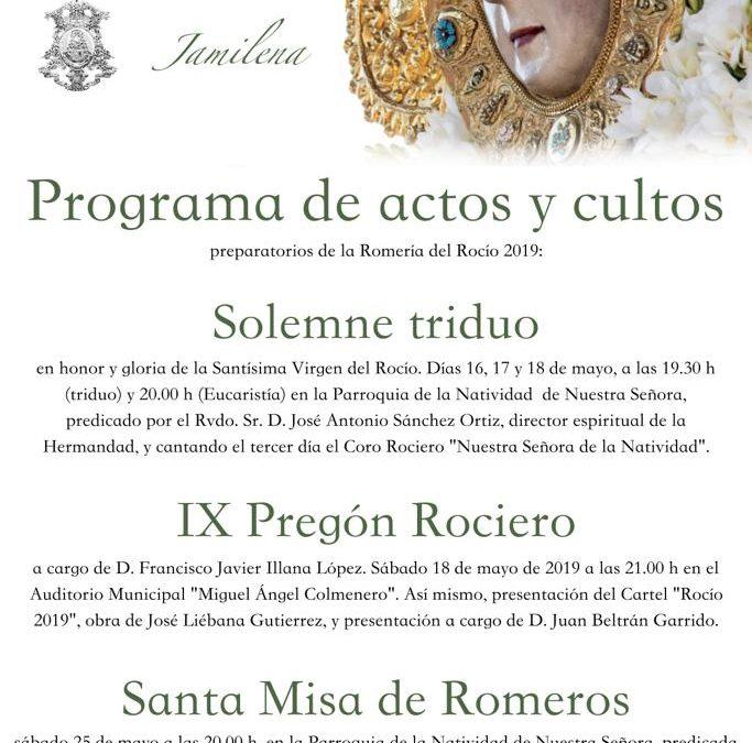 Actos del la Hermandad de Nuestra  Señora del Rocío