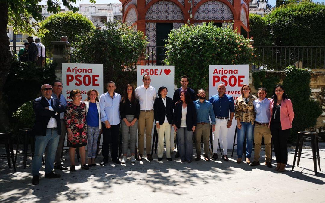 El PSOE de Arjona presenta su candidatura a las municipales con Rosa Aguilar y José Latorre como padrinos