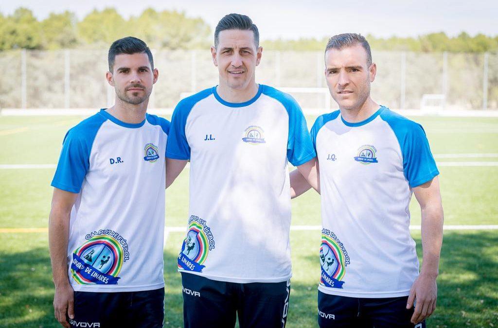 Javi Luque, Rus y Quesada impulsores y creadores del Campus de fútbol Ciudad de Linares Cleardent