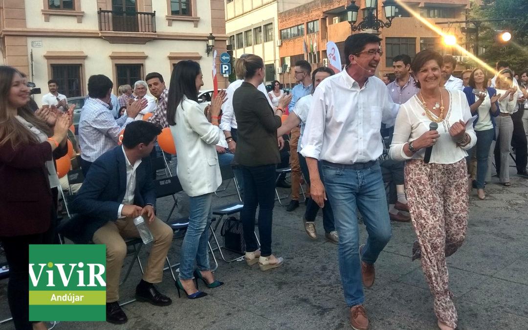 Juan Marín apoya a Dolores Ciudad en la batalla hasta las urnas