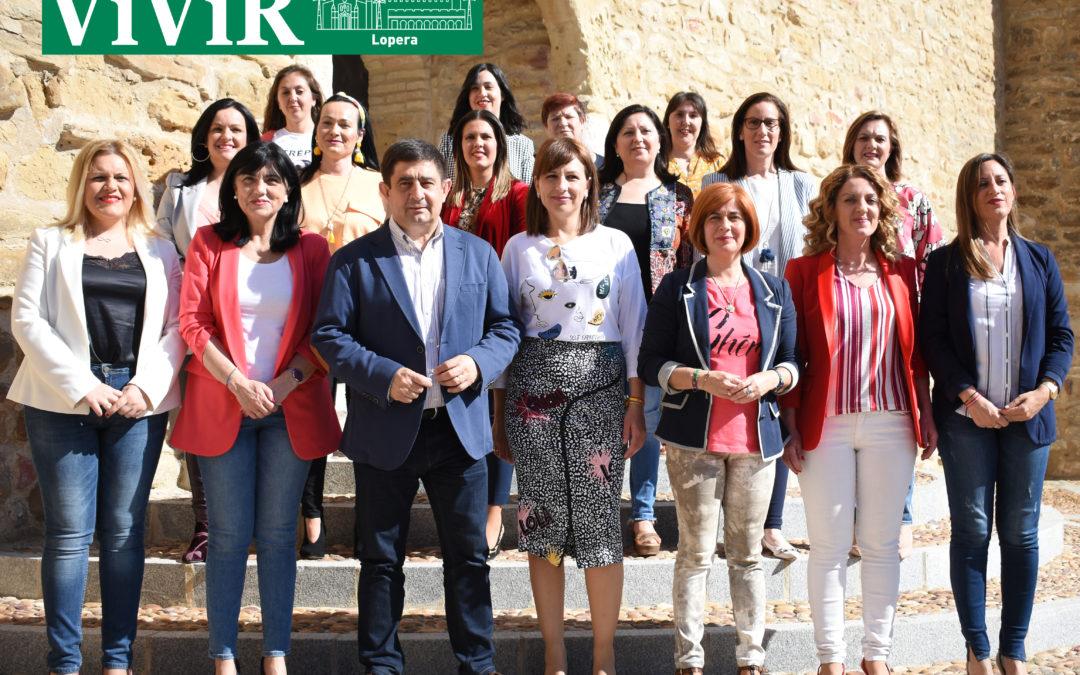 Las veintiséis candidatas socialistas a las alcaldías de la provincia se reúnen en Lopera