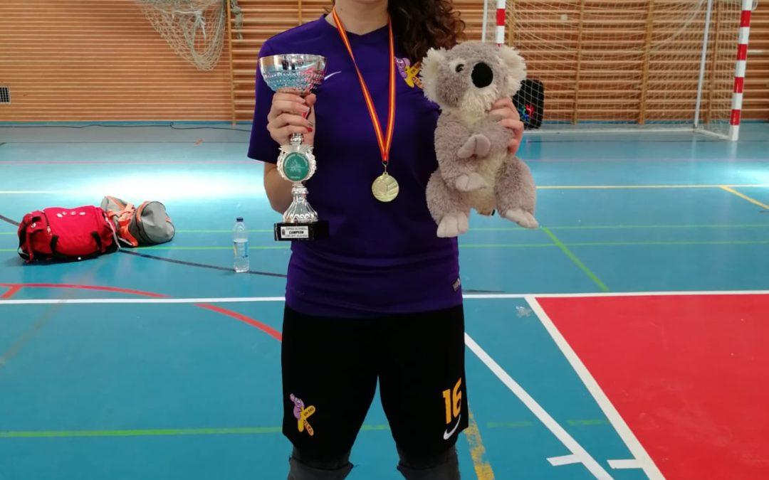 María Garrido Gallardo, campeona de España de Kin-Ball con su equipo K-Olea