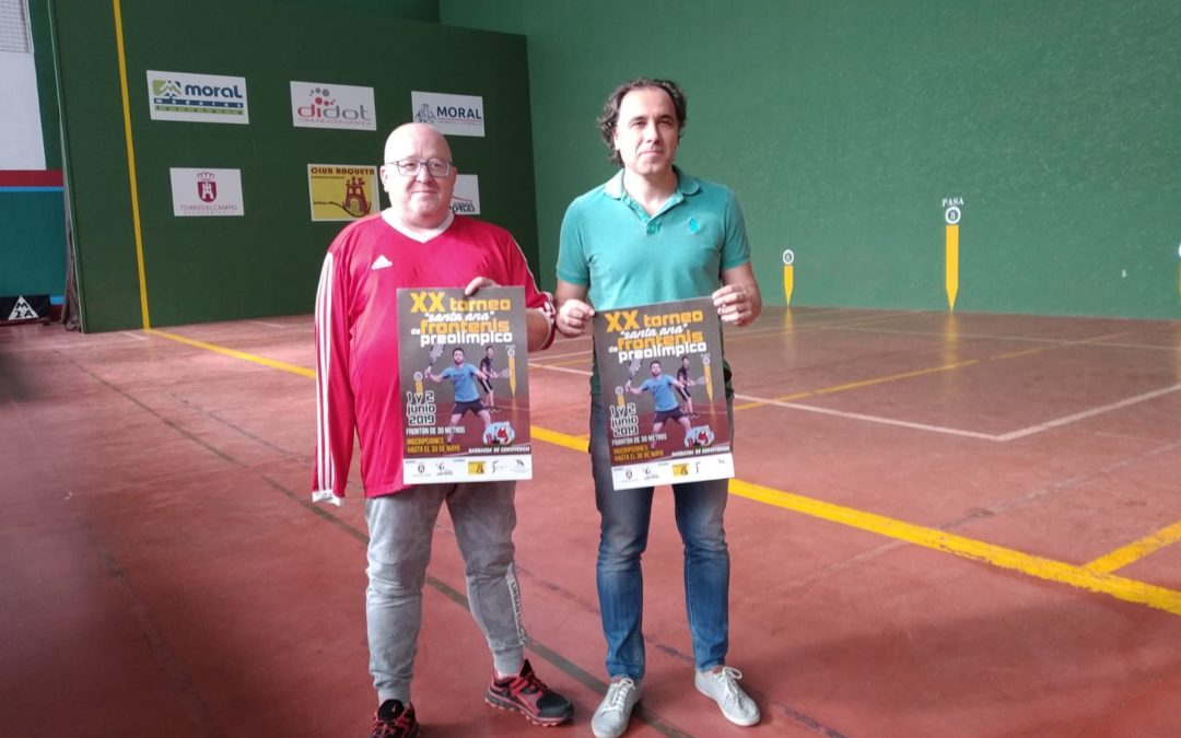 Fin de semana deportivo con el XX Torneo «Santa Ana» de Frontenis Preolímpico