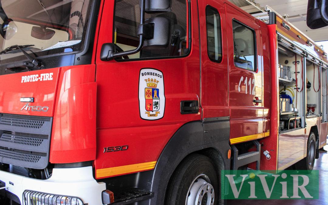 Tres afectados por inhalación de humo en una vivienda