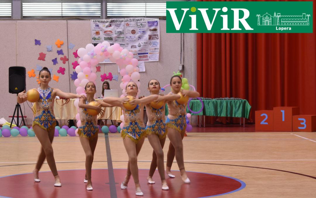 Lopera acoge su V Torneo de gimnasia rítmica