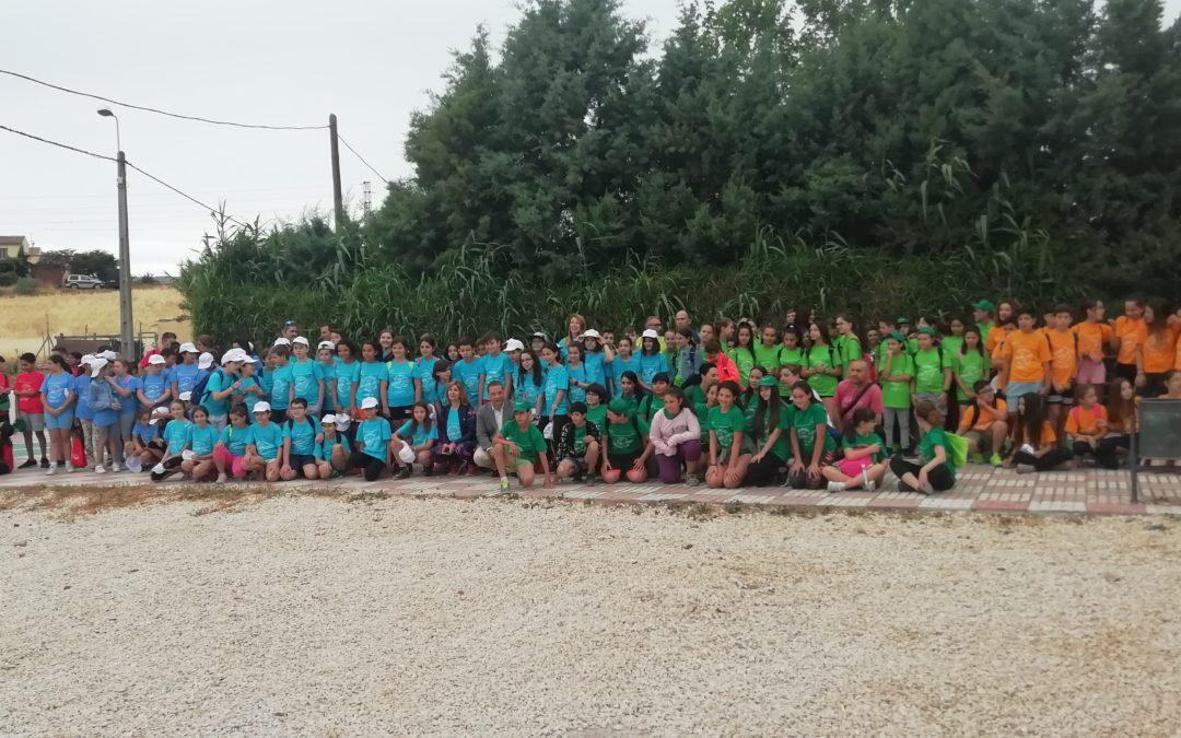 300 escolares participan en una marcha por el Cinturón Verde de Andújar