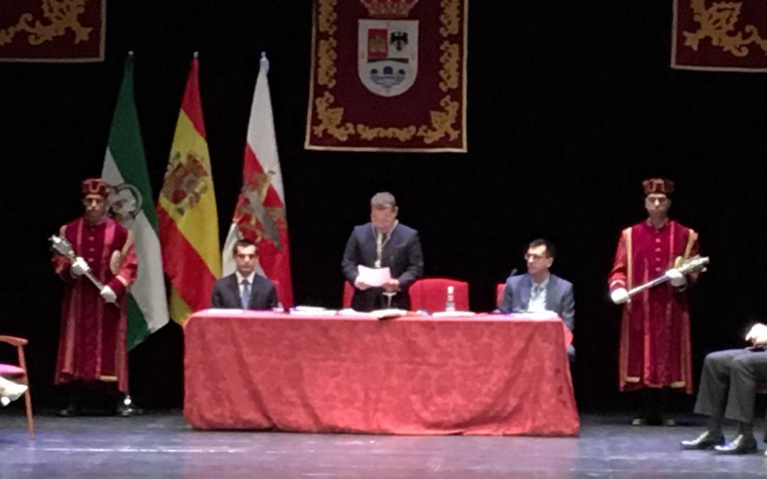 Paco Huertas toma posesión como alcalde de Andújar con el apoyo de Adelante Andújar