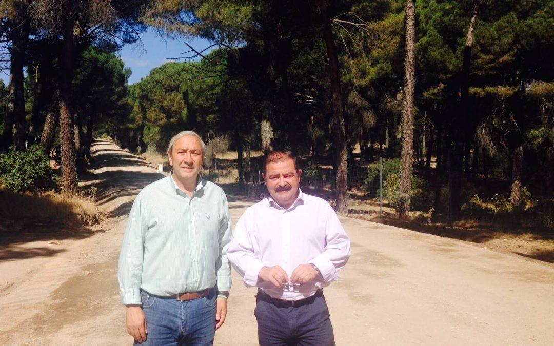 Las mejoras en la carretera de La Alcaparrosa finalizarán en julio