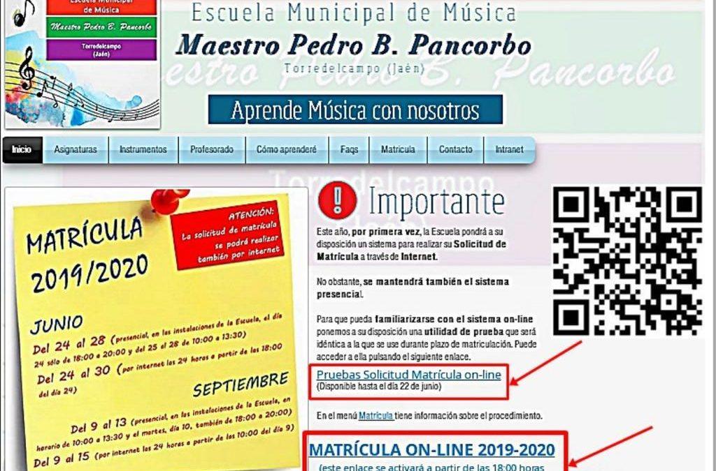 La matrícula para la Escuela Municipal de Música podrá hacerse online