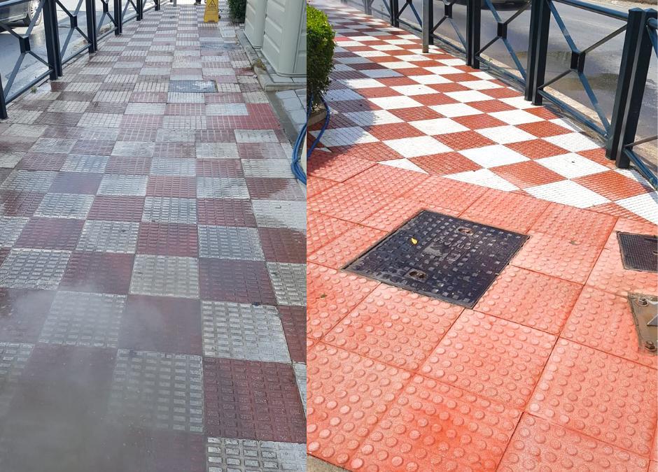 Concluyen los trabajos de limpieza en la Avenida de Andalucía