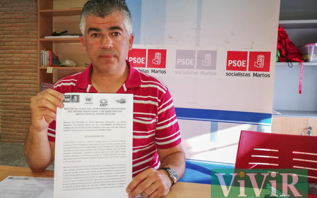 El PSOE de Martos presentará una moción en defensa del olivar y del aceite