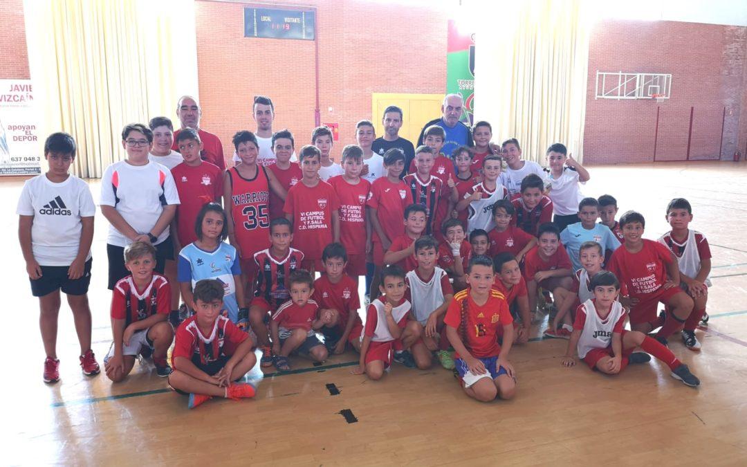 Los niños del campus del CD Hispania finalizan las clases