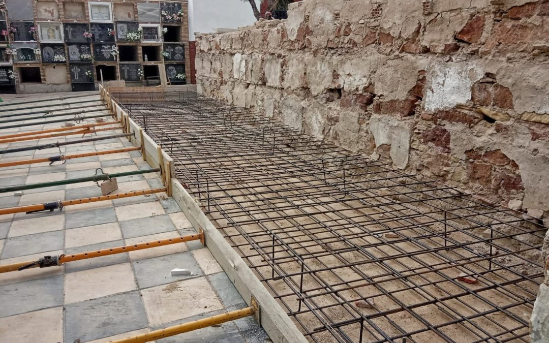 En marcha la construcción de 120 nichos en el cementerio municipal