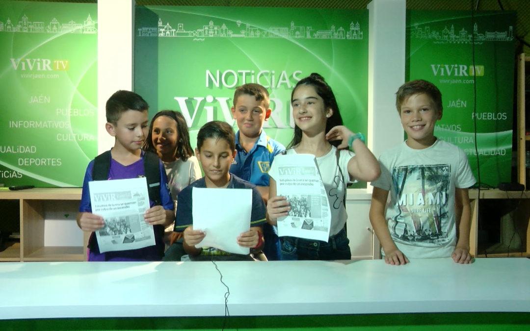 Los niños de la Escuela de Verano visitan Vivir Torredonjimeno