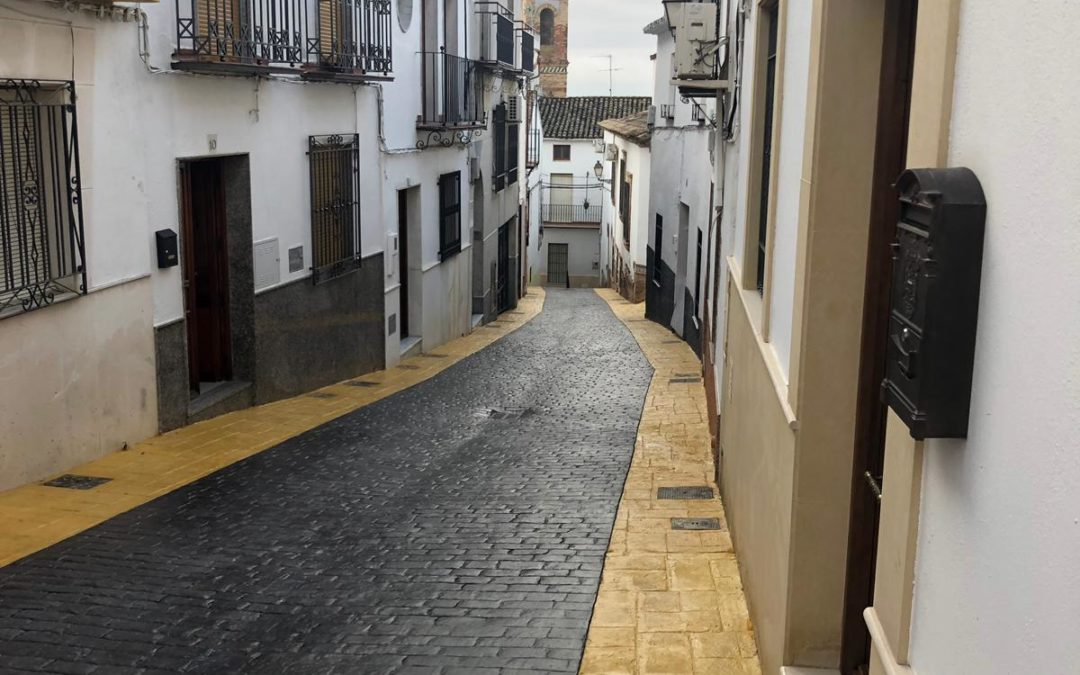 Finalizadas las obras de remodelación de las calles Cerrillo y San Blas