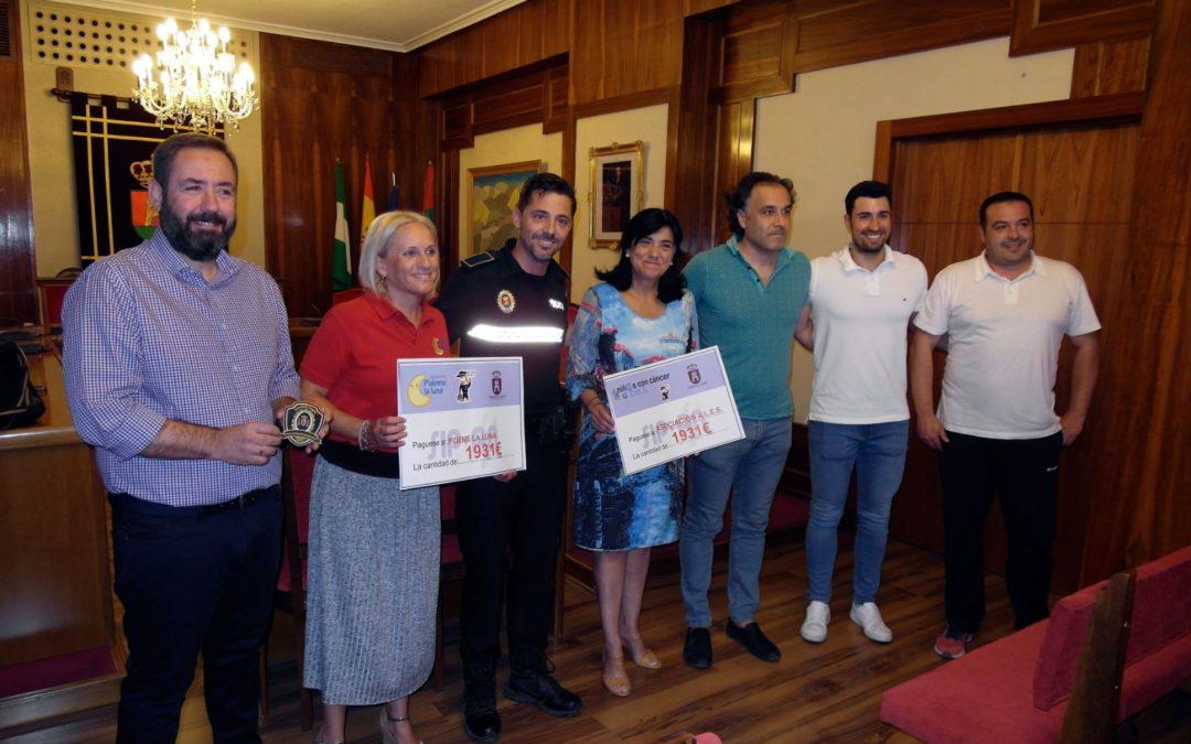 La policía de Torredelcampo recauda 3.863 euros para una buena causa