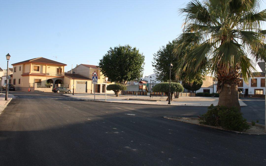 Mejora del asfaltado en varias calles de Villanueva de la Reina