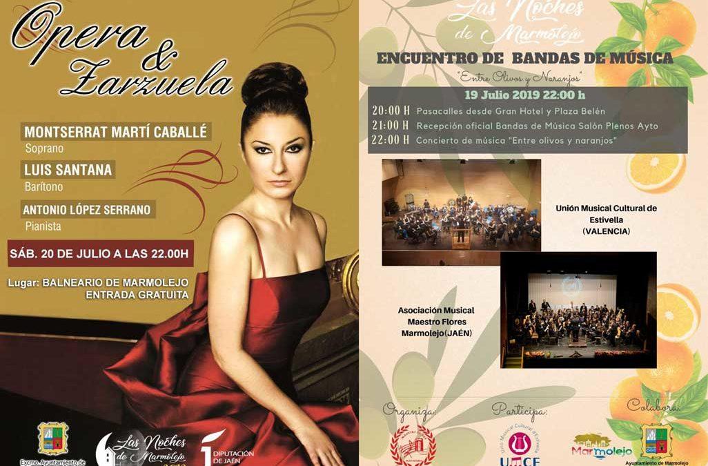 El Balneario se prepara para un fin de semana con ópera, zarzuela y bandas de música