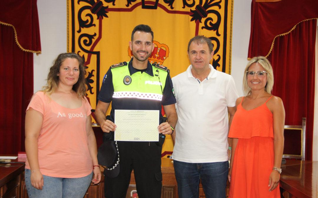 Toma de posesión del nuevo Policía Local de Villanueva de la Reina