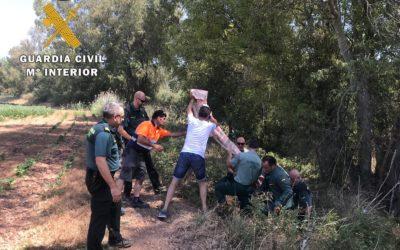 Heroíco rescate de una mujer de 65 años arrastrada por el río en Villanueva de la Reina