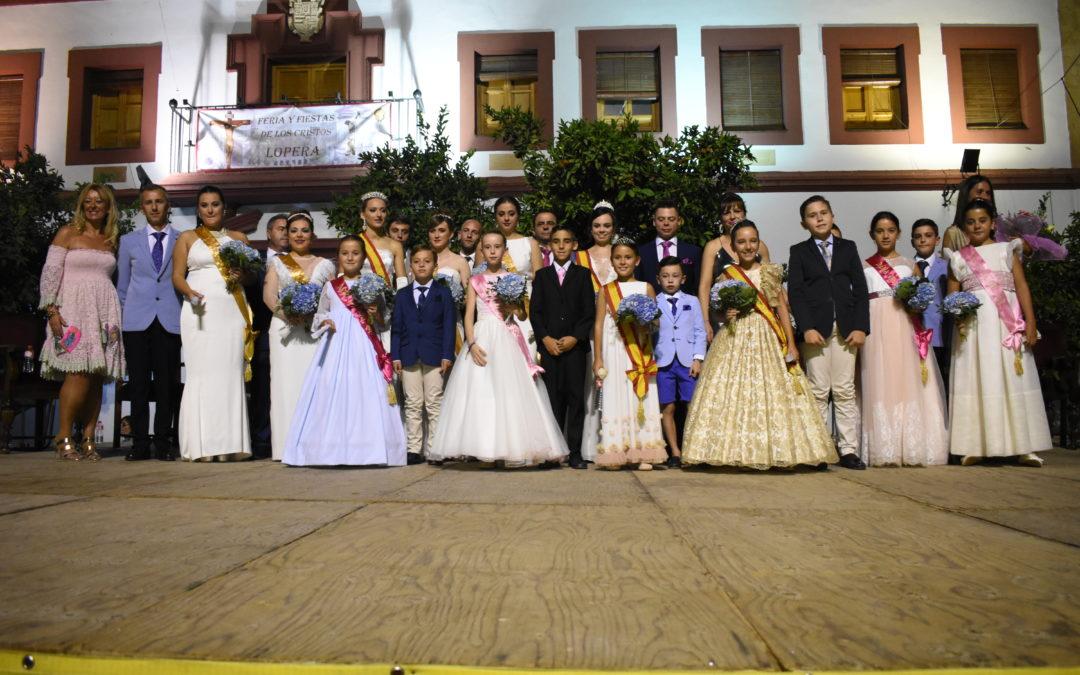 María Coca y Francis Palomo, reinas de la Feria de los Cristos 2019