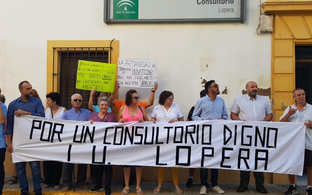 Manifestación en Lopera por «un consultorio accesible, adecuado y sin carencias»