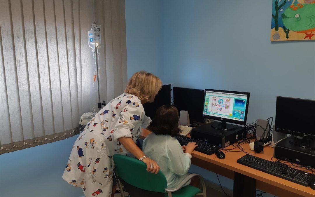 Comienza el curso también para los niños ingresados en el hospital Alto Guadalquivir