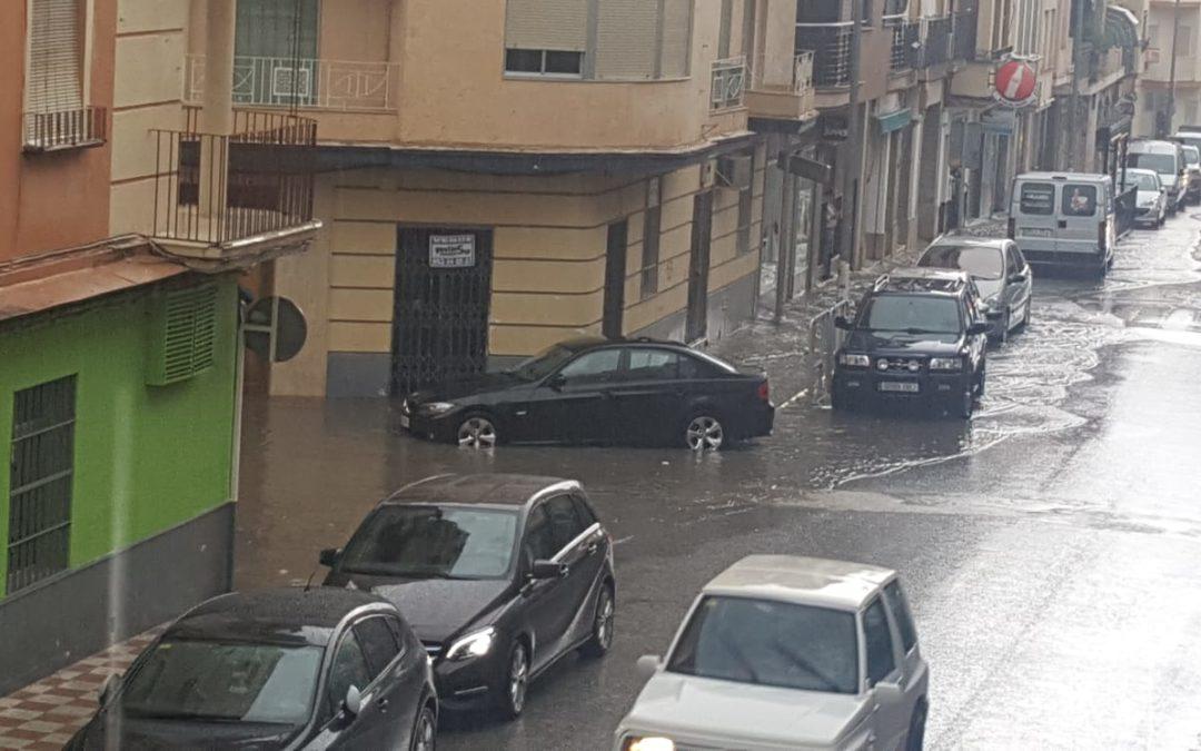 Fuertes lluvias en Torredonjimeno, Torredelcampo y Jamilena