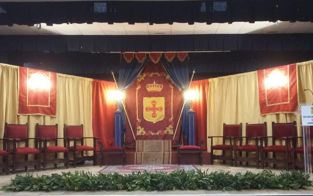 El auditorio Miguel Ángel Colmenero ya está listo para la coronación de las reinas y el pregón de Manuel Moreno