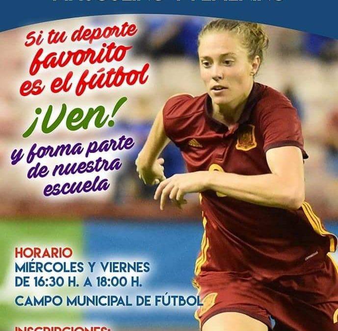 Abierto el plazo de inscripción a las Escuelas de Fútbol que este año incorporan la categoría femenina