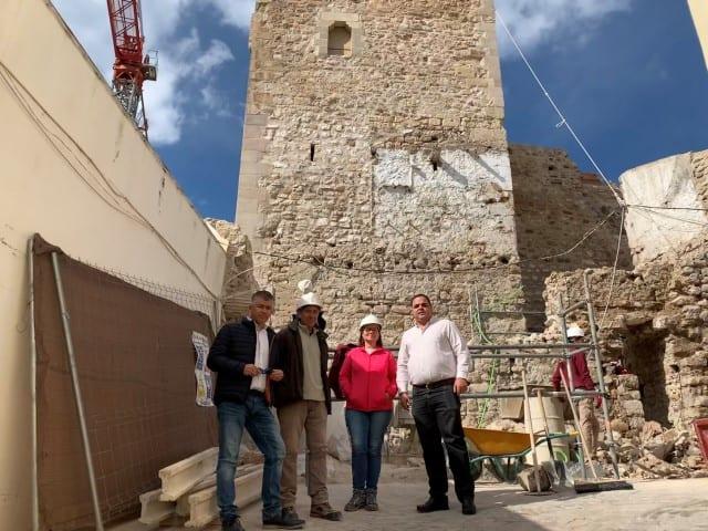La recuperación de la Torre Almedina avanza a buen ritmo