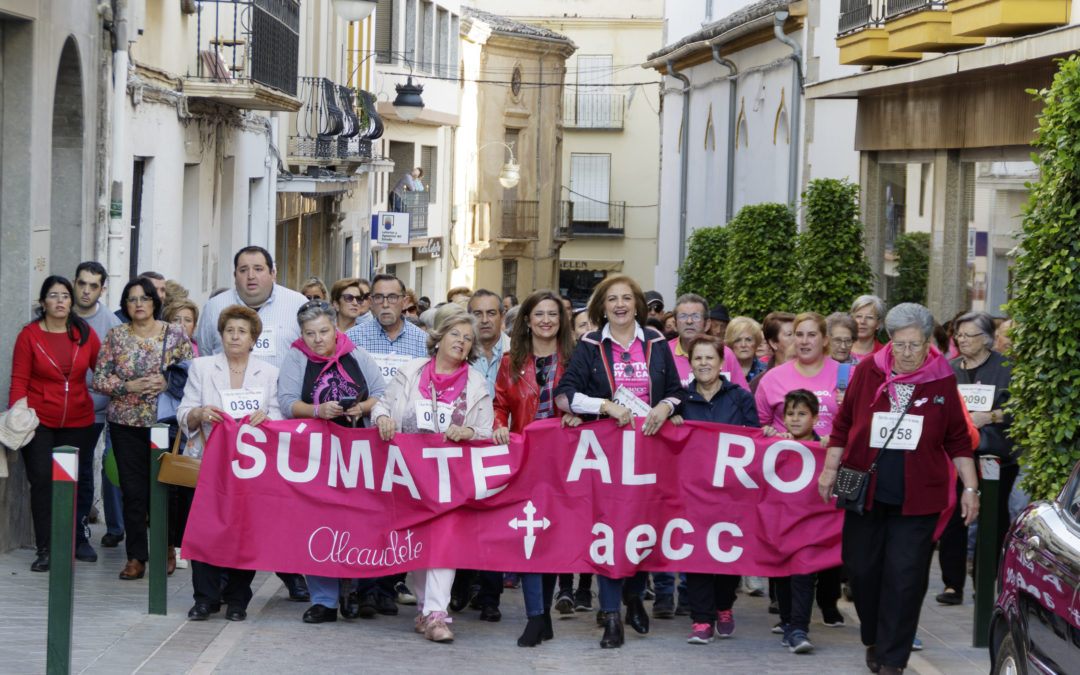 Alcaudete se vistió de rosa contra el cáncer