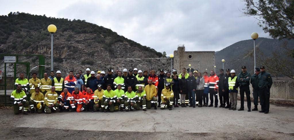 Los servicios de emergencias prueban con éxito los mecanismos de respuesta en el simulacro en la Central hidroeléctrica del Jándula
