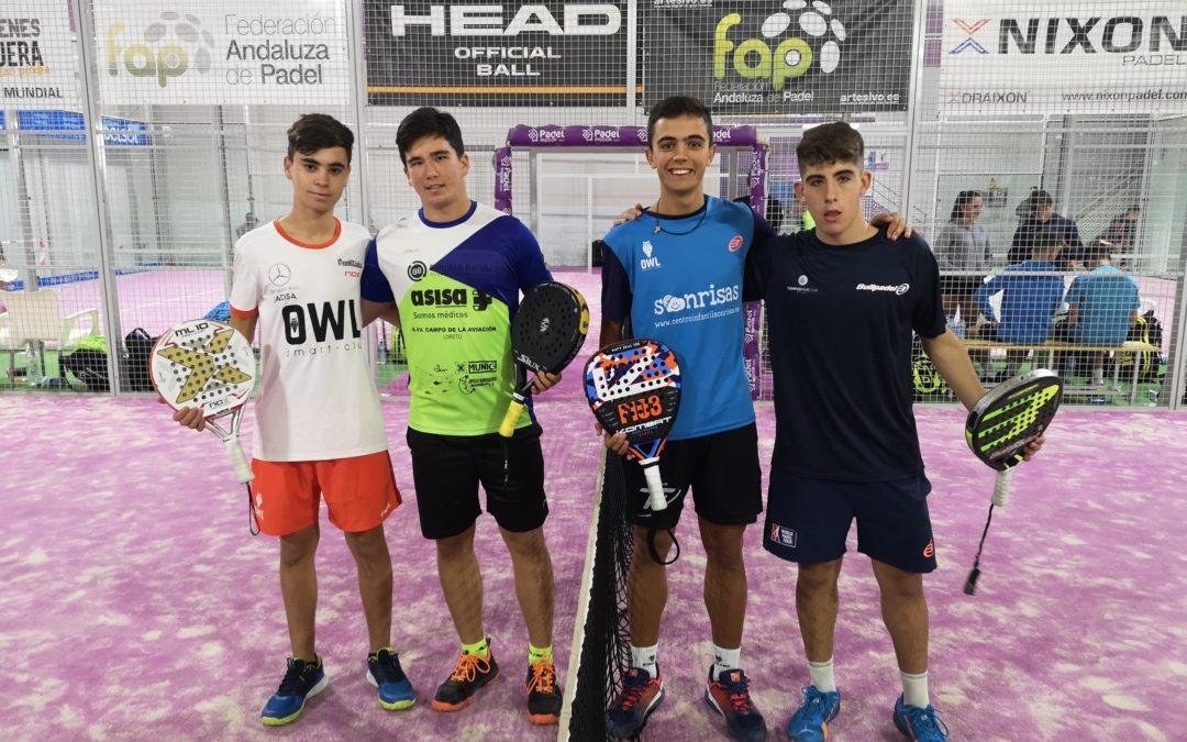 Javier Ureña se proclama campeón cadete de la sexta Prueba del Circuito Andaluz de Pádel Adeslas Segurcaixa