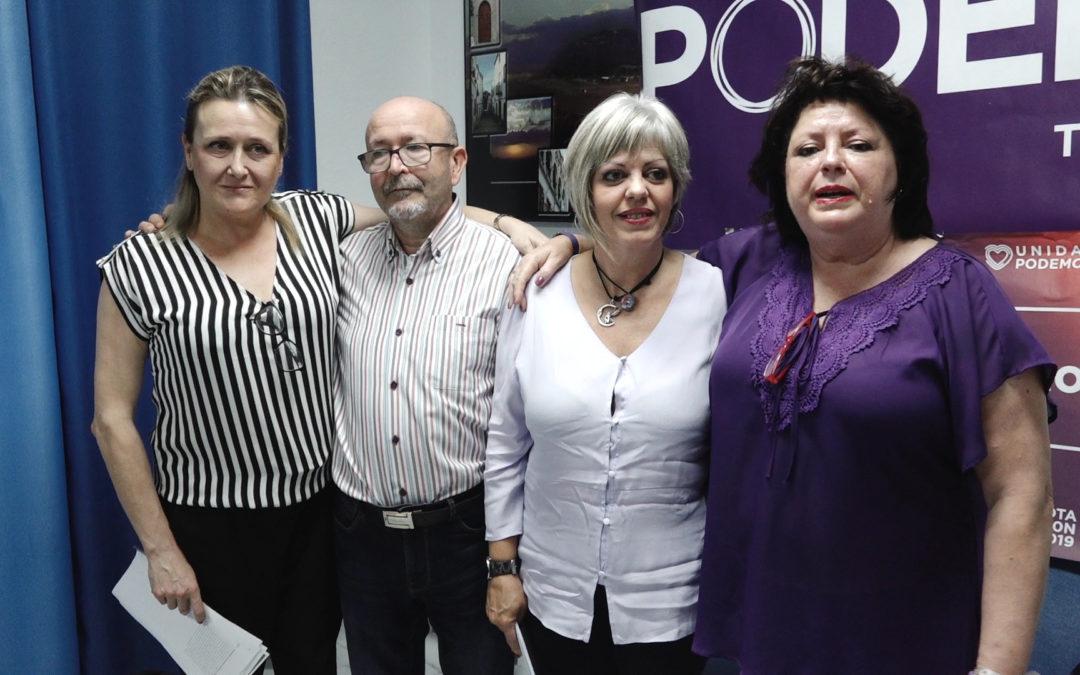 Podemos Torredonjimeno presenta a los candidatos al Senado para las próximas elecciones