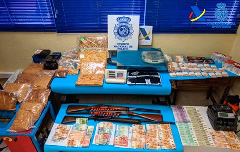 Cae una red de contrabando de tabaco a gran escala en una operación con origen en Linares