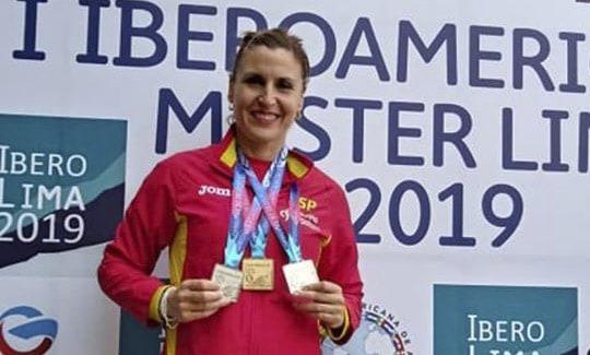Oro y dos platas para nuestra atleta más internacional