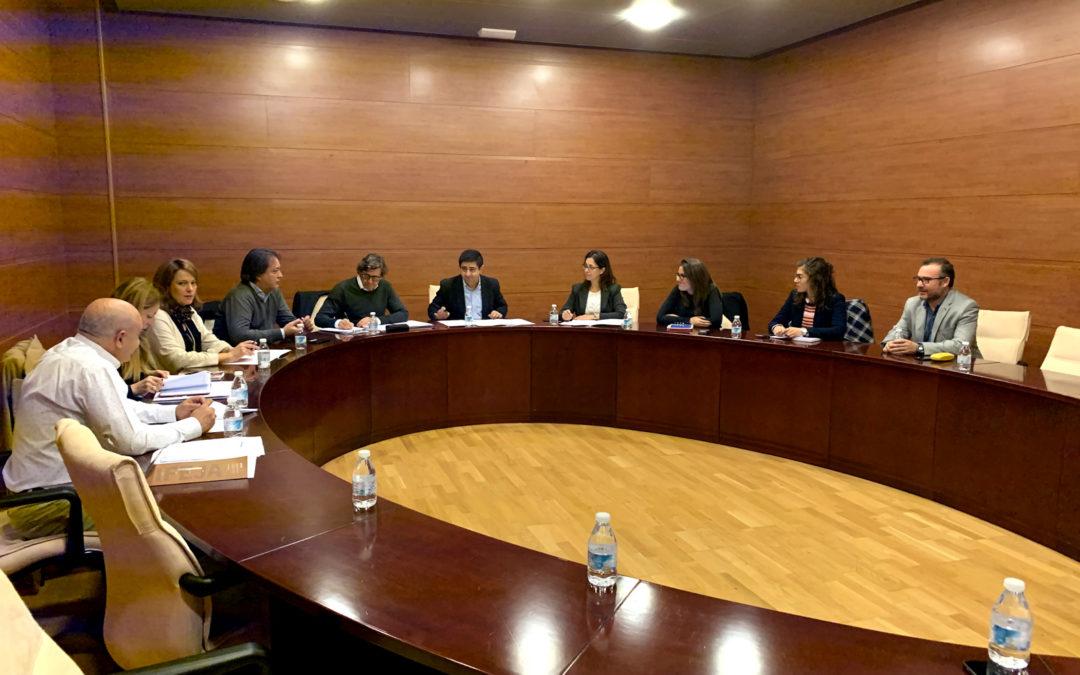 """Las obras del palacio de deportes Olivo Arena """"van al ritmo previsto"""" según afirma el Presidente de la Diputación"""