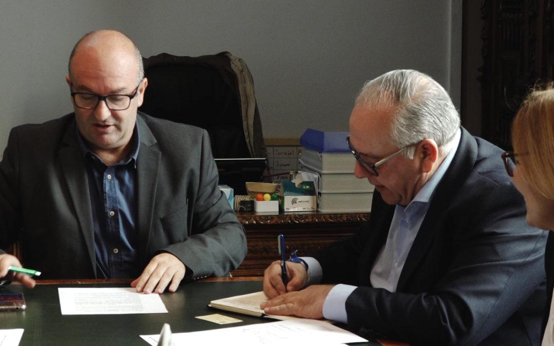 Reunión de trabajo con el delegado de Fomento y el alcalde tosiriano
