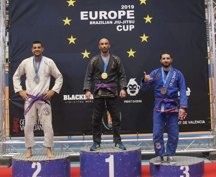 Emilio Civantos, campeón de Europa en Jiu-Jitsu
