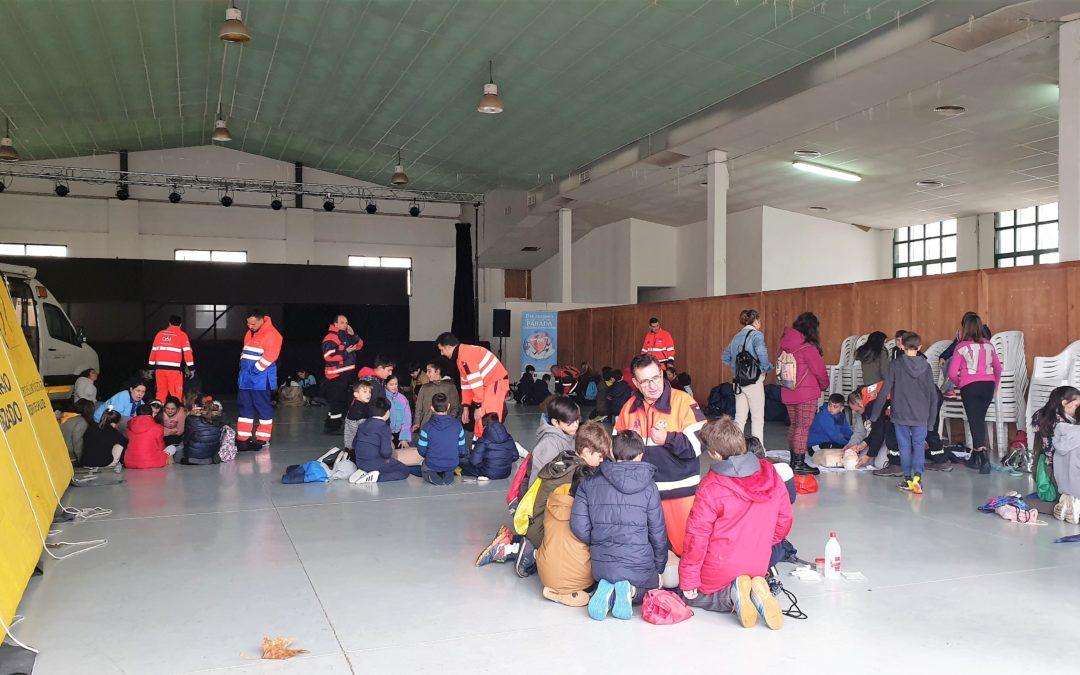 Cuatrocientos alumnos de La Carolina participan en un taller de emergencias