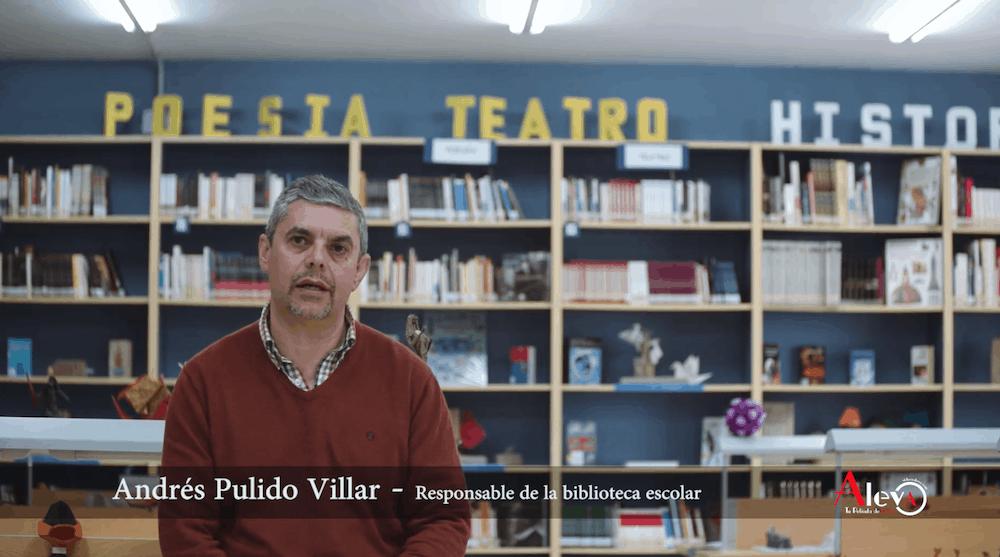 Andrés Pulido recogerá este viernes el premio a la Mejor Biblioteca Escolar de un Centro de Educación Secundaria en Andalucía 2018-19