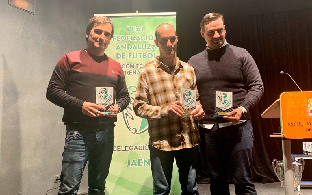 Tres entrenadores del Andújar Fútbol Sala, premiados en la gala del Comité de Entrenadores de Jaén